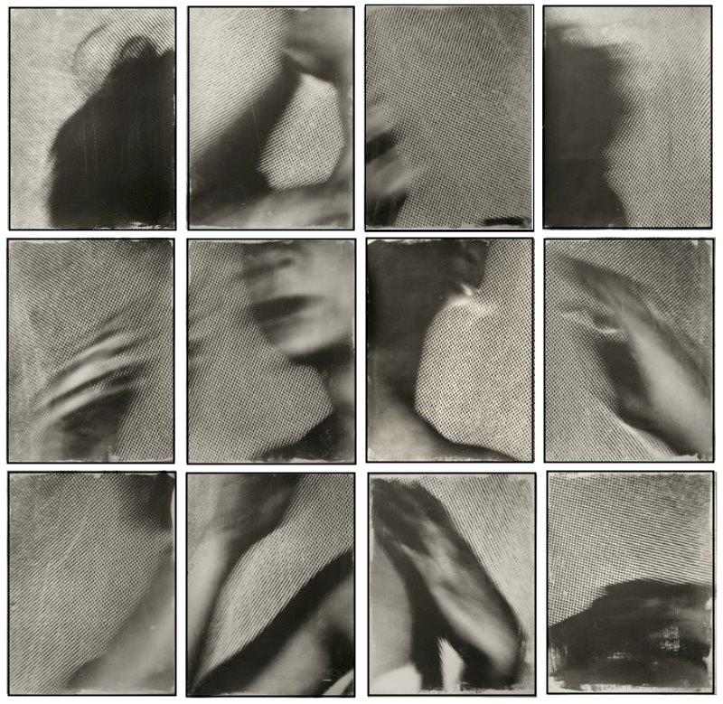 Fotografie (Unikat): 12x 40x55 cm (180 x 185 cm) Auf Büttenpapier aufgetragene Fotoemulsion