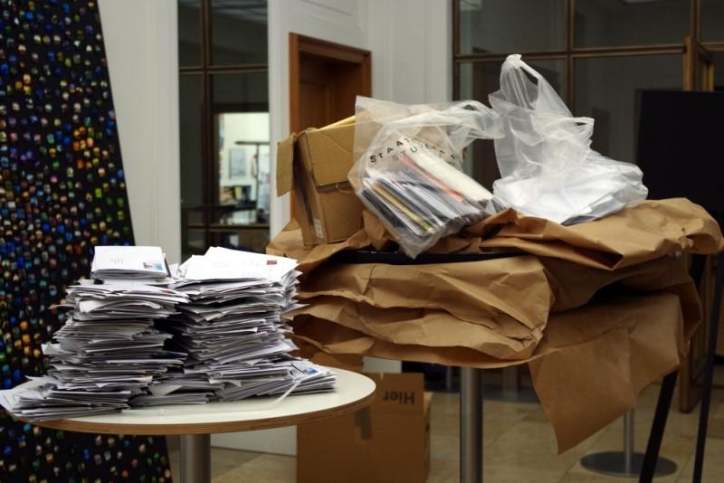 """Vermessung der Zeit - Literaturhaus Stuttgart. Post aus dem Projekt """"The 7th Day"""""""
