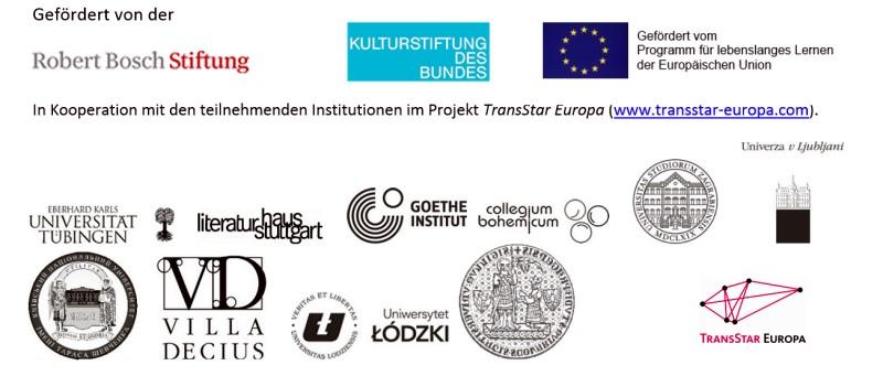 Gefördet von Robert Bosch Stiftung, Kulturstiftung des Bundes, Goethe Institut, Literaturhaus Stuttgart