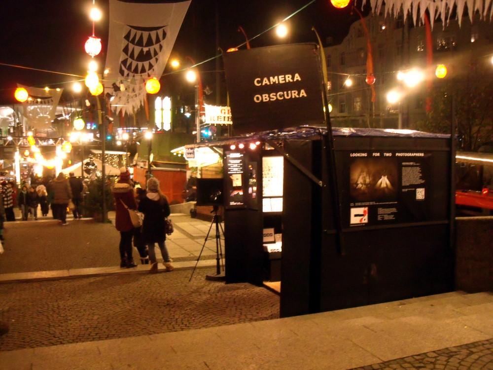 Camera-Obscura-Schwabinger Weihnachtsmarkt, 2015