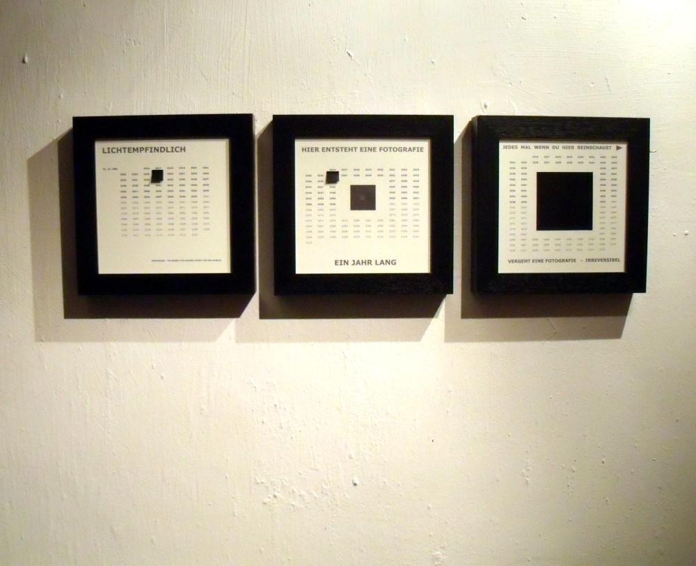 "Irreversibel, Set, Camera Obscura, Rahmen ""Lichtempfindlich"", Rahmen ""Framed Camera Obscura""-Lochkamera, Rahmen ""Irreversibel"""