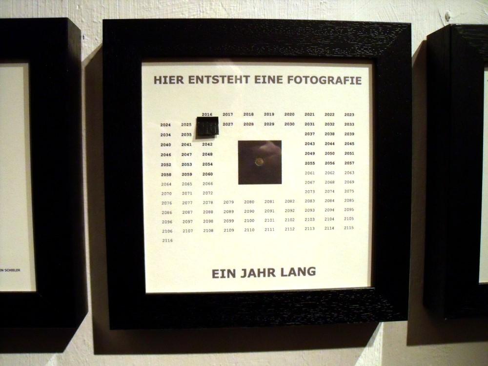 """Irreversibel Projekt - Rahmen """"Hier entsteht eine Fotografie - ein jahr lang"""""""
