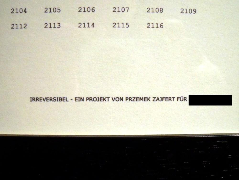 """Irreversibel Projekt - Rahmen """"Lichtempfindlich"""""""