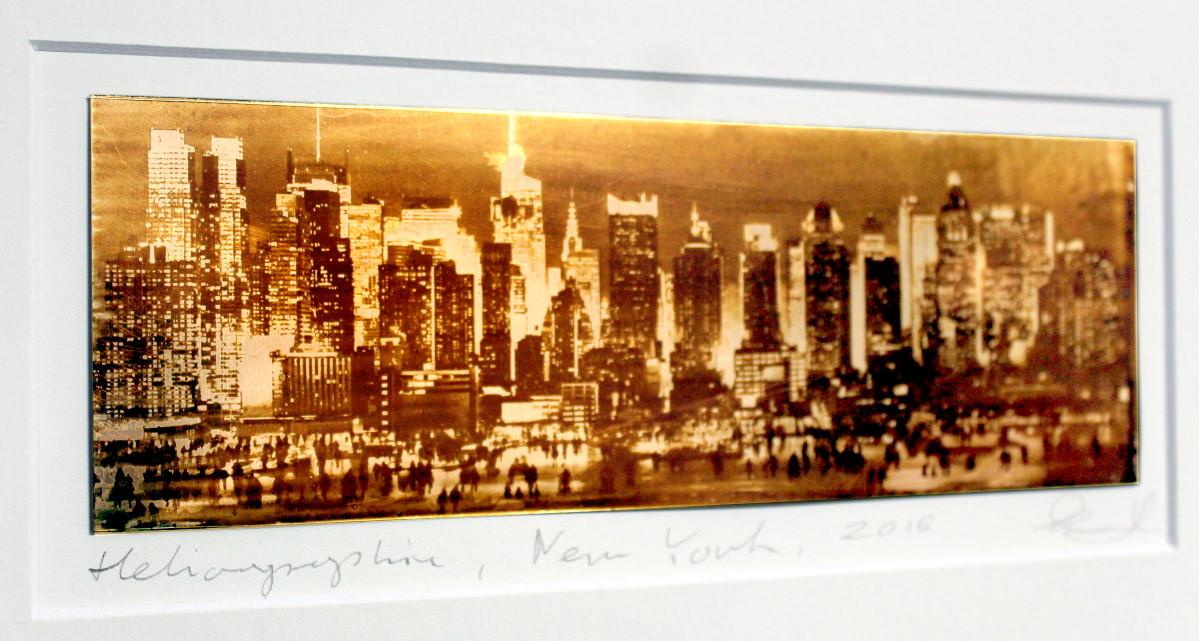 Heliographie nach Niépce, Unikat, New York, Metalplatte, Lavendelöl, Bitume de Judée