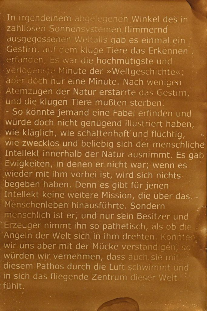 Friedrich Nietzsche, Über Wahrheit und Lüge im außermoralischen Sinn
