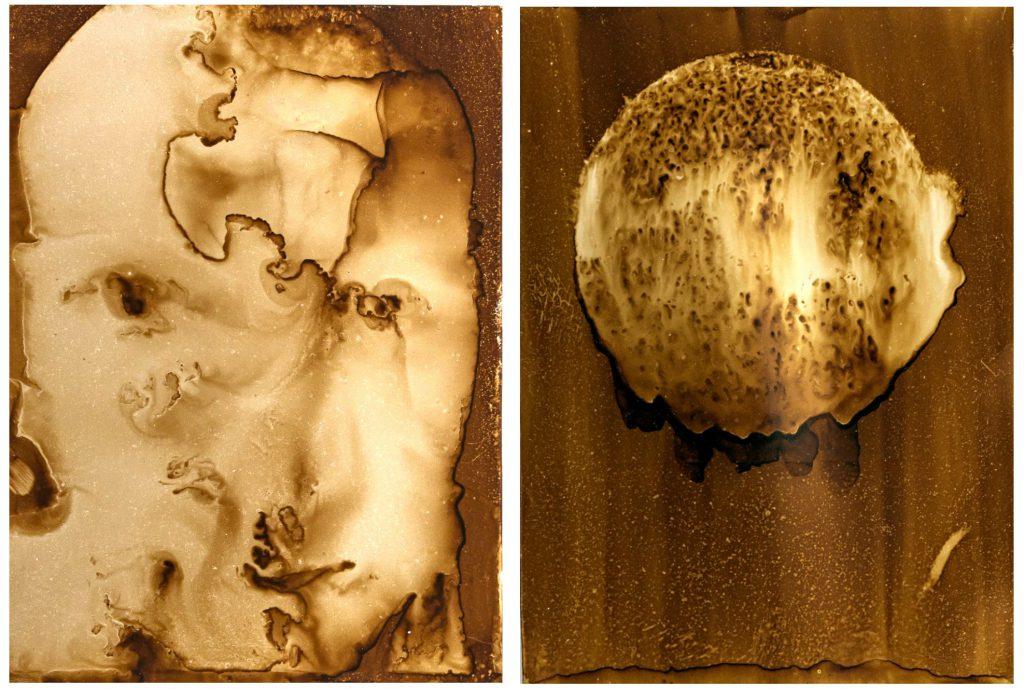 Heliographie, I-Cancer 13.10.2017 20x27cm Metal Plate, Lavender Oil, Bitume de Judée