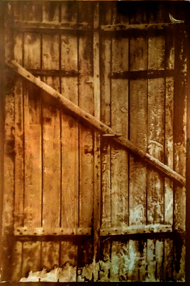 Heliographie, The Door , 2019 20x27cm (Passepartout 50x70cm) Metal Plate, Lavender Oil, Bitume de Judée